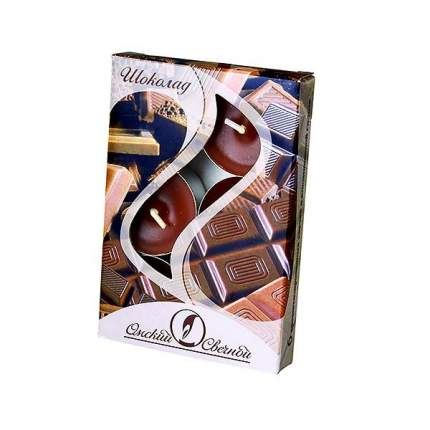 Ароматические свечи Омский Свечной шоколад 3,8х1,6 см 001827-свеча