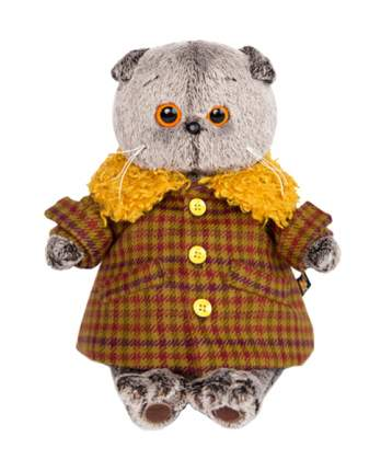 Мягкая игрушка BUDI BASA Басик в пальто с желтым меховым воротником, 22 см