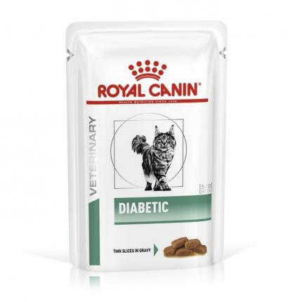Влажный корм для кошек ROYAL CANIN Diabetic, при сахарном диабете, мясо, 85г