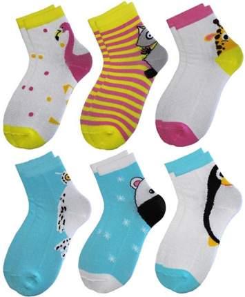 Набор детских носков с рисунком на пятке р. 14-16
