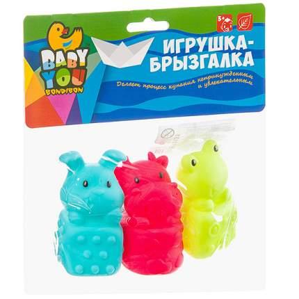 "Набор для купания Bondibon ""Корова, лягушка, кролик"""