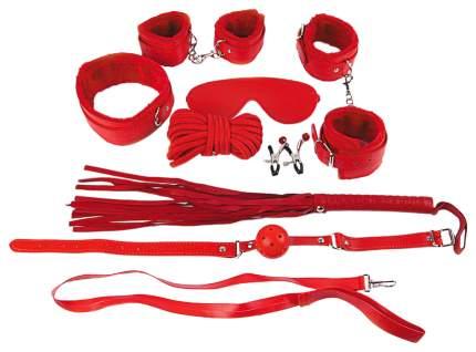 БДСМ комплект: наручники, оковы, маска, кляп, плеть, ошейник с поводком, верёвка, зажимы