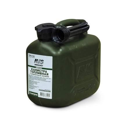Канистра AVS A78492S TPK-Z 05 топливная пластиковая темно-зелёная 5 л