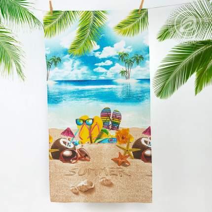 Банное полотенце АРТ ДИЗАЙН Отпуск разноцветный 80x150 см (1 шт.)