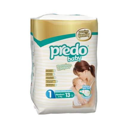 Подгузники Predo Baby Стандартная пачка (13 шт.) № 1 (2-5 кг.) новорожденный