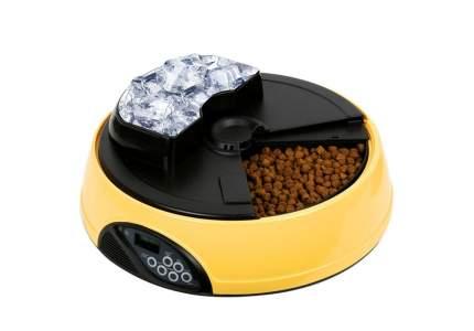 Автокормушка Petwant с ж/к дисплеем и отделением для льда (Ø 33 x В 15 см, Желтый)