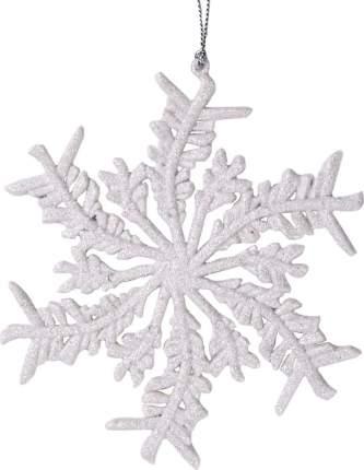 Елочная игрушка Феникс Present Белая снежинка 77905 13,5 см 1 шт.