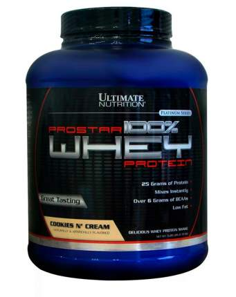 Протеин Ultimate Nutrition Prostar 100% Whey Protein, 2390 г, cookies & cream