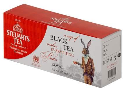 Чай черный Steuarts black tea royal 25 пакетиков