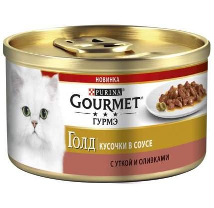 Консервы для кошек Gourmet Gold, утка с оливками, 12шт по 85г
