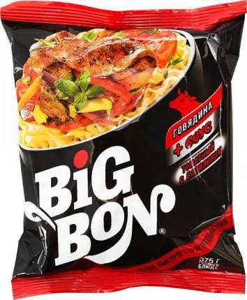 Лапша с говядиной BigBon с соусом томатным с базиликом 75 г