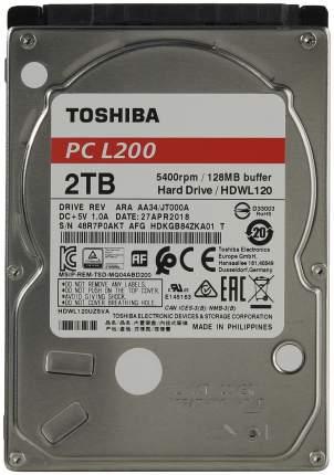Внутренний жесткий диск Toshiba L200 2TB (HDWL120UZSVA)