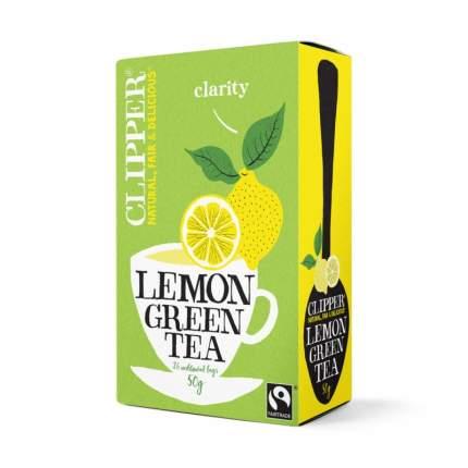 Чай зеленый Clipper с лимоном органик  20 пакетиков