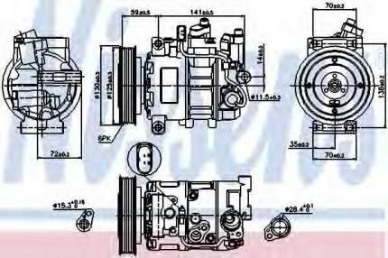 Компрессор кондиционера Nissens 89111