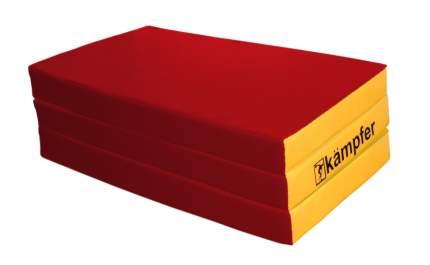 Детский спортивный мат Kampfer №6 (150 x 100 x 10 см) красно-желтый