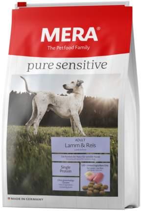 Сухой корм для собак MERA Pure Sensitive Adult, ягненок и рис, 12,5кг