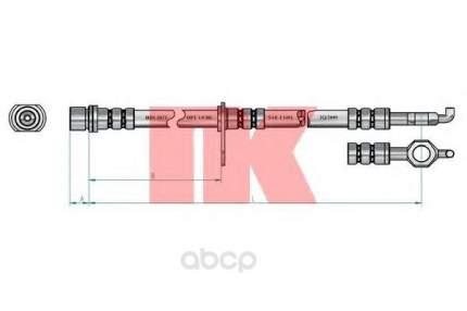 Шланг тормозной системы Nk 8545148 передний левый