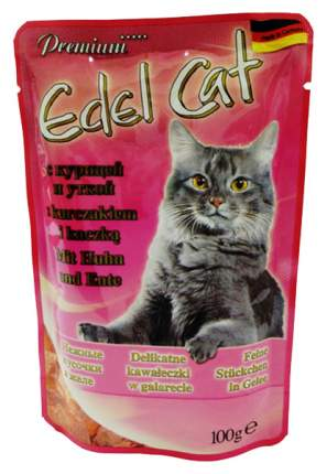 Влажный корм для кошек Edel Cat, курица, утка, 20шт, 100г