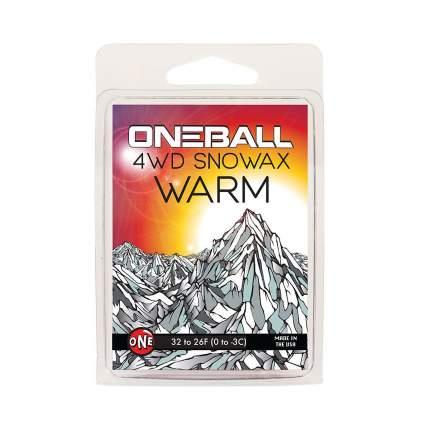 Парафин Oneball 4Wd Warm 0C/-3C 165 г