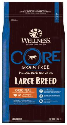 Сухой корм для собак Wellness CORE Large Breed Original, для крупных пород, индейка,2,75кг
