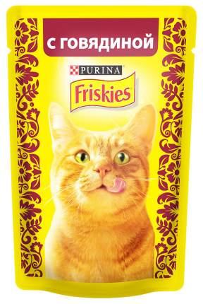 Влажный корм для кошек Friskies, говядина, 24шт, 85г