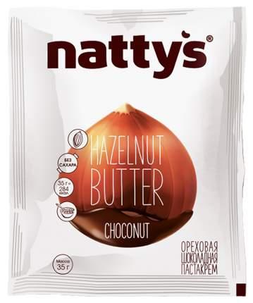 Шоколадная ореховая паста-крем Nattys сhoconut с натуральным медом 35 г