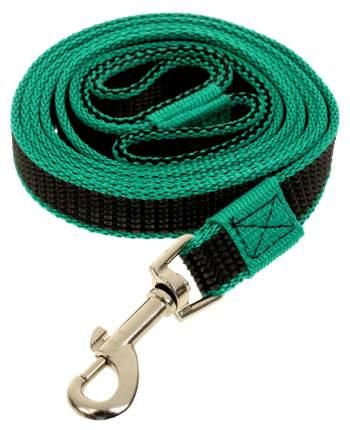 Поводок для собак Зооник капроновый с латексной нитью 2м* 20мм Зеленый