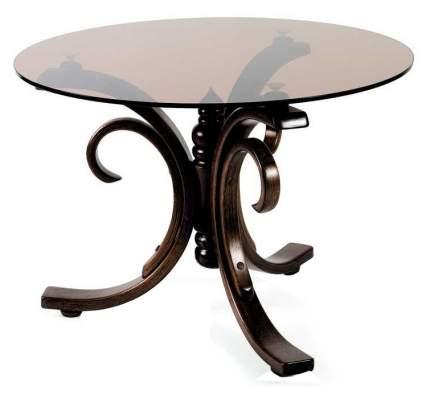 Журнальный столик Мебелик Миледи 1037 70х70х48 см, тёмно-коричневый