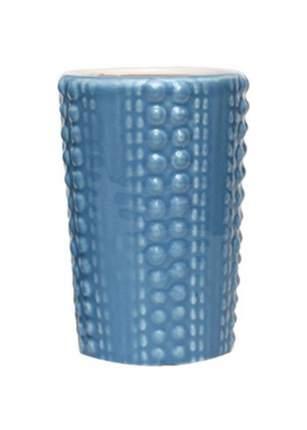 """Керамический стакан для зубных щеток """"Голубая лагуна"""""""