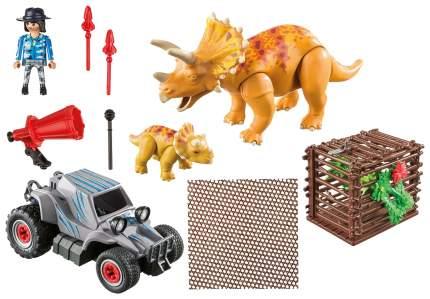 Игровой набор Playmobil Динозавры: Вражеский квадроцикл с трицератопсом