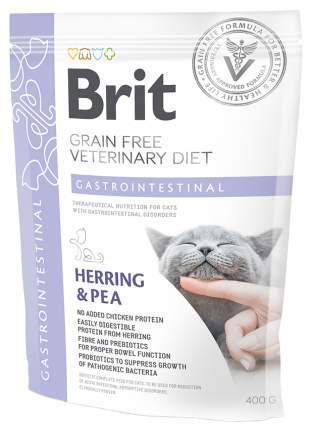 Сухой корм для кошек Brit Veterinary diet Gastrointestinal, при гастрите, сельдьба, 0,4кг