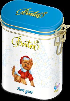 Чай Bonton новогодний черный кркпнолистовой с ароматом красного апельсина 100 г
