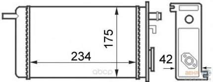 Радиатор отопителя HELLA 8FH351024341