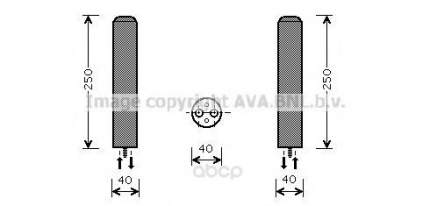 Радиатор кондиционера автомобильный Ava DWD050