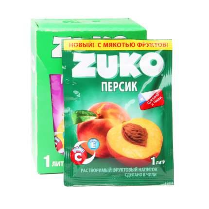 Напиток растворимый Zuko персик 12 штук