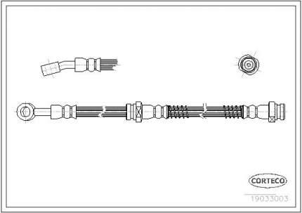 Шланг тормозной системы CORTECO 19033003