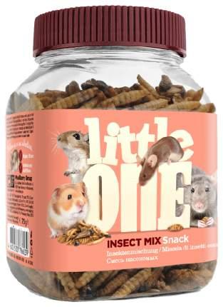 Лакомство для крыс, мышей, песчанок, хомяков Little One Смесь насекомых, 75г