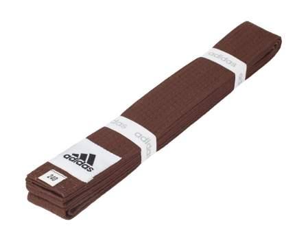 Пояс для единоборств Adidas Club коричневый, 240 см