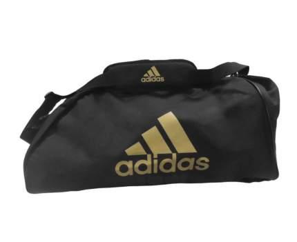 Спортивная сумка Adidas Sports Bag Shoulder Strap Combat M черно-золотая