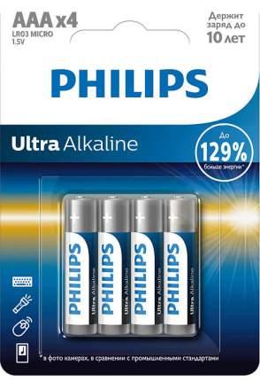Батарейка Philips LR03E4B/51 Ultra 4 шт
