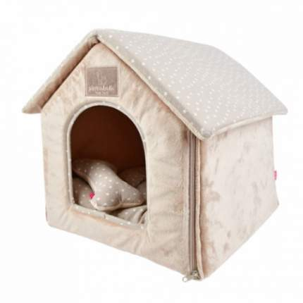 Домик с косточкой для животных бежевый Pinkaholic LUNA HOUSE