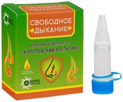 Карандаш-ингалятор Бизорюк Фабрика здоровья свободное дыхание королевский апельсин