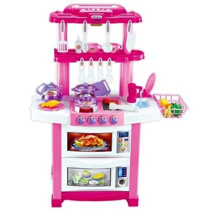 Детская кухня Kitchen Happy Little Chef 758B (свет, звук) 33 предмета с водой