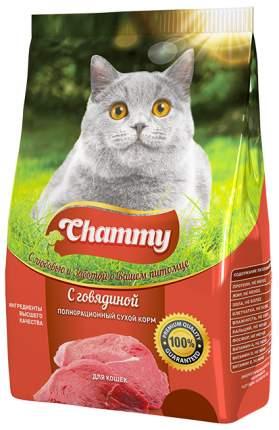 Сухой корм для кошек Chammy, говядина, 0,35кг