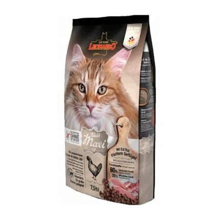 Сухой корм для кошек Leonardo Adult Maxi GF, беззерновой, для крупных пород, курица, 7,5кг