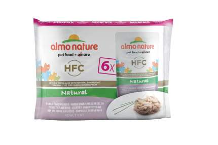 Влажный корм для кошек Almo Nature HFC Natural, курица, рыба, 6шт, 55г