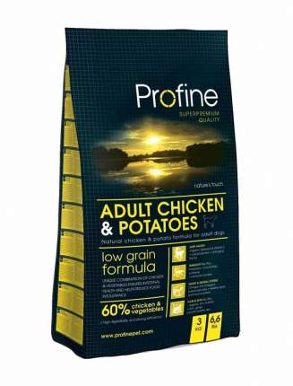Сухой корм для собак Profine Adult Chicken & Potatoes, курица, картофель, 3кг