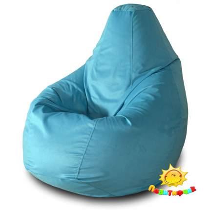 Кресло-мешок Pazitif Груша Пазитифчик Голубой 03, размер L, велюр, голубой