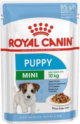 Влажный корм для щенков ROYAL CANIN Mini Puppy, для мелких пород, мясо, 85г