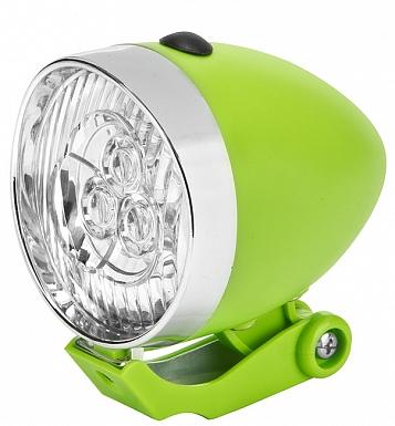 Фонарь передний JY-592, Серебро-зеленый/560092
